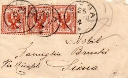 1904  LETTERA CON ANNULLO SIENA - Storia Postale