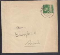 SUISSE - 1917-31 - ENTIER POSTAL -  BANDE A JOURNAUX  DE FRIBOURG POUR ZURICH - - Entiers Postaux