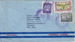 GUATEMALA - LETTRE AERIENNE POUR L´ALLEMAGNE ZONE RUSSE  LE 19-12-1949. - Guatemala
