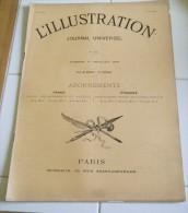 L'ILLUSTRATION 11 Juillet 1891-CHEMIN DE FER DU VIVARAIS – PYRENEES CEREMONIE BARETOUS ,NAVARRE - RACING CLUB - DANTON - Giornali
