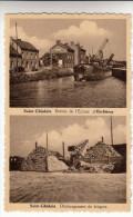 Saint Ghislain, Entrée De L'Ecluse D'Herbières, Dèchargement De Briques (pk13179) - Saint-Ghislain