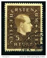 1939  Prince Franz Joseph II  5 Fr.  Mi Nr 185 - Liechtenstein