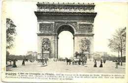 75 PARIS Arc De Triomphe  Début 20è S.  Animation  Omnibus à Impériale - Arrondissement: 16