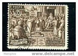 VATICAN  1951  15è Centenaire Concile De Calcedoine  Sass 153 Oblitéré - Oblitérés