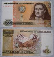 Banknote Peru 500 Intis 1987 Sehr Schön                   (BA3) - Pérou
