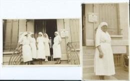 11 Jpx  Infirmieres De La Croix Rouge Service Du Dr Leon Chabrol Lot De 2 Photos Des Années 30 - Health