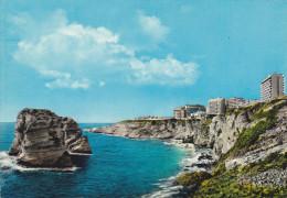 liban,beyrouth,beirut,vue  sur la grotte aux pigeons,view on pigeons rock,vue sur  falaise et la mer ,les hotels de