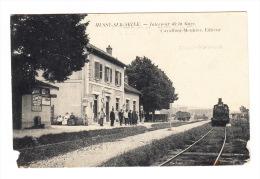 CPA (10). MUSSY SUR SEINE : Intérieur De La Gare - France