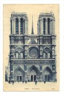 Cp, 75, Paris, Notre-Dame, Voyagée 1936 - Notre Dame De Paris