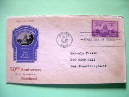 USA 1940 FDC Cover - 50 Aniv. Idaho - Boise Capitol - Brieven En Documenten
