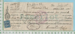 Billet 1931 Avec TimbreTaxe FX36 2 Cents Banque Canadienne De Commerce Winsor P. Quebec  Canada - Canada