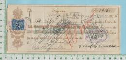 Cheque 1926 Avec TimbreTaxe FX36 2 Cents Banque Provinciale  Danville P. Quebec  Canada - Chèques & Chèques De Voyage