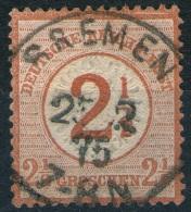 Bremen 25/2 1875 Auf 2 1/2 Groschen Hellbraun - DR Nr. 29 Als Pfennig Marke Verwendet - Abart - Kabinett - Allemagne