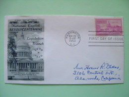 USA 1950 FDC Cover - Washington Capitol - Verenigde Staten