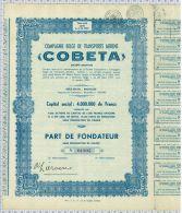 Cie Belge De Transports Aeriens COBETA - Aviation