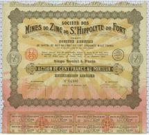 Mines De Zinc De St Hippolyte Du Fort, Gard, (taches Rouges En Bas!) - Bergbau