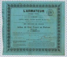 L'Armateur, G Delente, Cie Maritime, Sts à Batignolles, 1856 (réparation) - Afrique