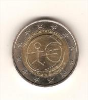 FRANCE 2009 CIRCULEE / 1 Pièce Commémorative De 2 Euros UEM 1999-2009  / Usage Courant - Francia