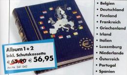 Band 1+2 Münz-Alben €-Set 66€ EURO-Sätze B D SF F GR Eire I Lux NL A P E EE LL Malta CY SLO SW Cyprus BG CZ HU Lit PL RO - Materiaal