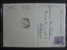 Carte Lettre : Roi Casqué 15 C Violet  1920 - Maximum Cards