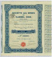 Sté Des Mines Du Djebel Diss En Tunisie - Afrique