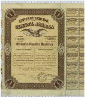 Company General Of Central America Atlantic-Pacific Railway - Chemin De Fer & Tramway