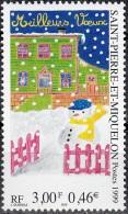 Saint-Pierre & Miquelon 1999 Yvert 705 Neuf ** Cote (2015) 1.80 Euro Meilleurs Voeux Bonhomme De Neige - Neufs