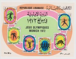 Lebanon,Liban,1974,Olympic Games,Munich,S.G.MS1223,Block,MNH . - Liban