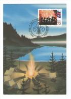 SLOVENIJA SLOVENIA MK MC MAXIMUM CARD 1995 TABORNIKI OB OGNJU SCOUTS - Slovenia