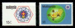 MALAYSIA 1978 - Scouts, Bees - Mi 176-7, YT 180-1, Sc 168-9 - Bienen