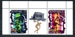 1114/ Slowenien Slovenia Slovenie 1996 MiNr. 151 - 152 ** MNH Pair - Olympics Games Atlanta - The Acropolis, Greece RARE - Summer 1996: Atlanta