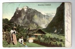 Cp , SUISSE , BERNERHAUS GRINDENWALD , Voyagée 1904 - BE Berne
