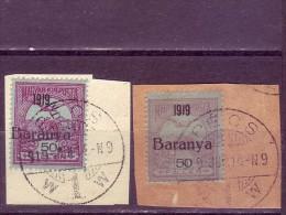 TURUL-50 FIL-OVERPRINT-BARANYA -1919-VARIETY-PECS-YUGOSLAVIA-HUNGARY-1919 - Baranya