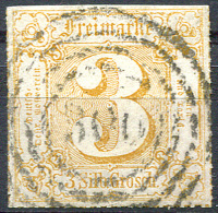 1866 Rouletted - Mi.50 (Yv.31, Sc.32) Used (VF) Signed Buchler - Tour Et Taxis
