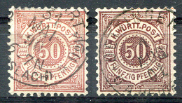 1890-91 Perf.11.5x11 - Mi.58 And As A Reference Mi.59 (Yv.61a, Sc.68a) Used (perfect) - Wuerttemberg