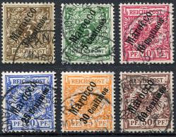 MOROCCO 1899 - Mi.1-6 (Yv.1-6, Sc.1-6) Compl. Set Used (perfect) VF - Deutsche Post In Marokko