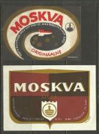 ESTONIA Estland Estonie Beer Labels MOSKVA ÕLU - 2 Different - Beer