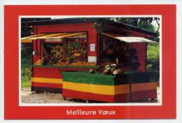 Marchand De Fruits--Baraque--Meilleurs Voeux Des Antilles--cpm N°616 éd Ducange---Belle Carte Animée - Marchands