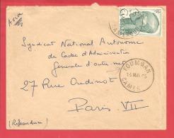N°Y&T 292 FOUMBAN  Vers FRANCE Le  14 MAI 1955 - Cameroun (1915-1959)