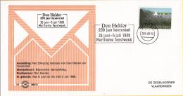 Nederland - Zegelkoerier Nederlandse Poststempels - Den Helder 200 Jaar Havenstad - Maritieme Feestweek - Nr. 1988/21 - Postal History