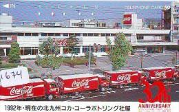 Télécarte Japon * COCA COLA  (1674) TELEFONKARTE * PHONECARD JAPAN *  COKE * TRUCK - Publicidad