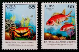 ANNEE MONDIALE DES OCEANS 1998 - NEUFS ** - YT 3723/24 - MI 4117/18 - Cuba