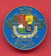 F198 / SPORT - Weightlifting - Gewichtheben - Halterophilie - 1993 SOFIA - Bulgaria Bulgarie Bulgarien - Badge Pin - Weightlifting