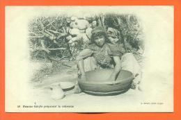 """Algerie  """"   Femme Kabyle Preparant Le Couscous  """" - Professions"""