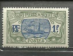 """St-Pierre & Miquelon  """"1892""""  Scott No. 104  (N*) - St.Pedro Y Miquelon"""