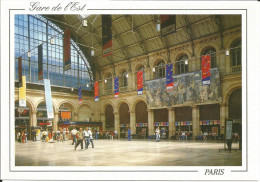 CPM Paris (75) Gare De L´Est / Hall Animé / Tableau Le Départ Des Poilus Albert Herter (1914) - Unclassified