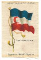 Chromo Sur Tissu Madagascar Colonies Françaises TB 75 X 50 Mm - Trade Cards