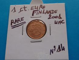 RARE !!!  1  CENTIME  EURO  FINLANDE  2001 Unc  ( 4 Photos ) - Finlandia