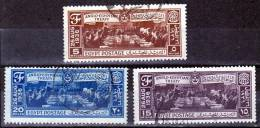Egypt Scott 203-205 Anglo-Egyptian Treaty Used F-VF - Egypt
