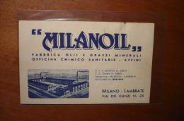 #G1897# MILANO - BIGLIETTO PUBBLICITARIO - MILANOIL - MILANO LAMBRATE - VIA DEI CANZI - Milano